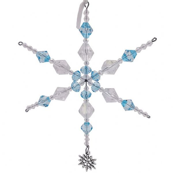 Sat 9th Nov 10.30 -11.15 Snowflake Decoration Turquoise & Clear AB